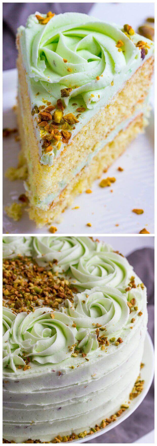 Vanilla Bean Pistachio Cake | Tasty Food Collection