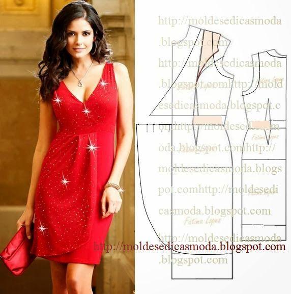 Plantillas de moda para la medida: TRANSFORMACIÓN DE VESTIDOS _46