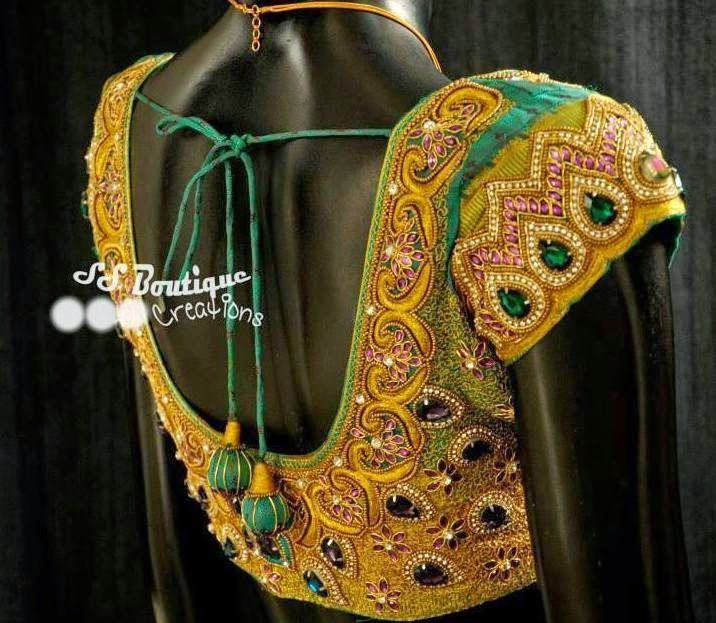 Kundan Work Pretty Blouse | Saree Blouse Patterns