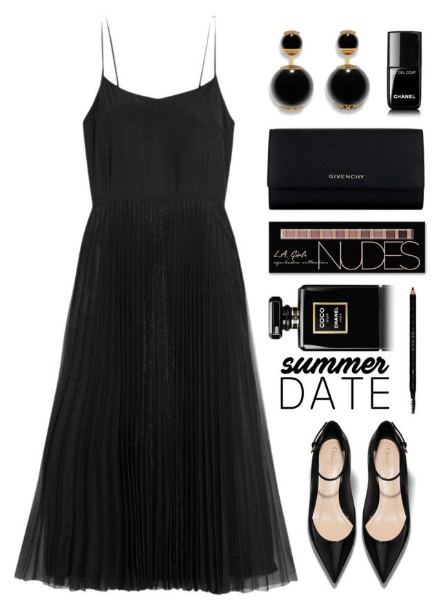 """""""Summer date"""" by fanfanfann ❤ liked on Polyvore featuring Victoria, Victoria Beckham, Givenchy, Chanel, Charlotte Russe and Gucci"""