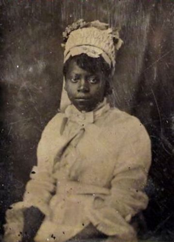 19th C Tintype Photograph Young African American Woman Bride | eBay