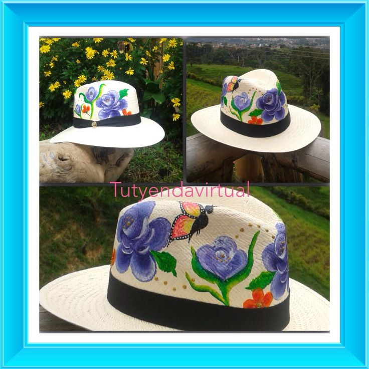 Genial accesorio elaborado a mano ,diseños exclusivos para tu pinta casual o formal . Espectaculares sombreros pintados a mano.