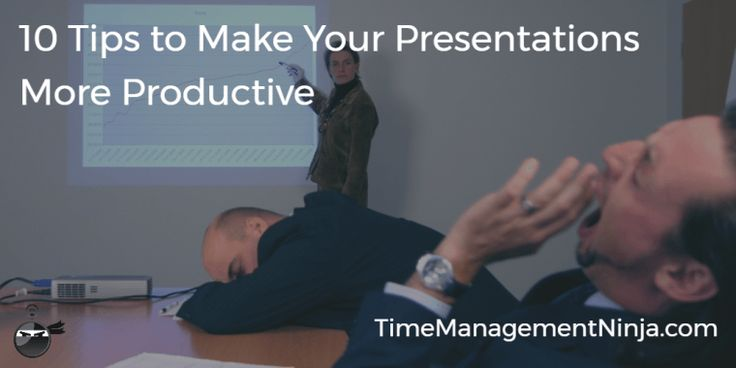 Some great tips for creating more effective PowerPoint presentations by Time Management Ninja https://timemanagementninja.com/2017/05/10-tips-to-make-your-presentations-more-productive/?utm_content=buffera09a8&utm_medium=social&utm_source=pinterest.com&utm_campaign=buffer
