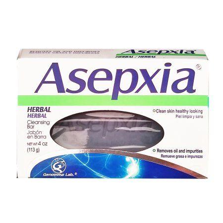 Asepxia Soap Herbal 4 oz - Jabon de Hierbas (Pack of 12)