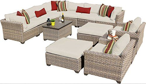Tk Classics 13 Piece 13a Monterey Outdoor Wicker Patio Furniture Set