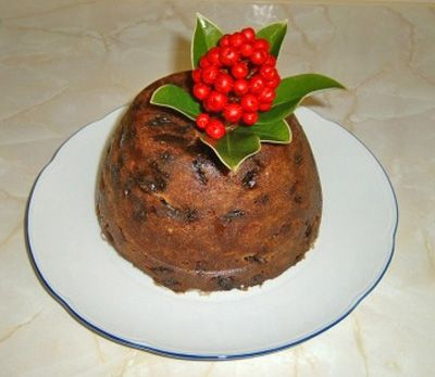 Plum pudding, also known as Christmas pudding. #PlumPudding
