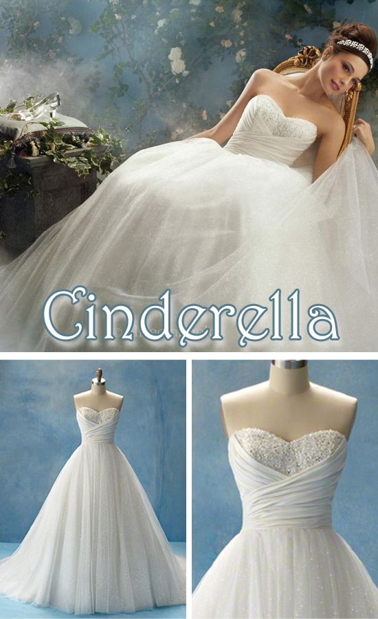 I love this dress! Sweetheart neck line, fitted waist, ballgown with little volume. I even love her hair and tiara...