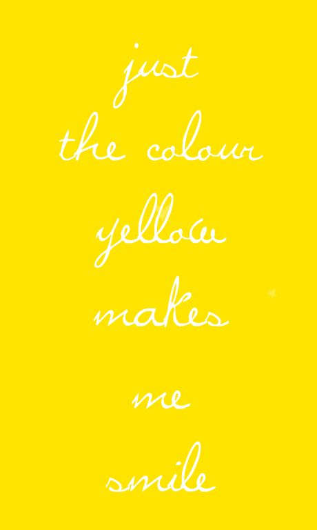 This is why yellow is my favorite color.