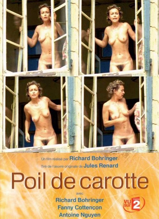 Poil de carotte , F '03 , TVmovie , by Richard Bohringer; Fanny Cottençon (46) , Antoine Nguyen /// A good-natured kid struggles to earn his mother's love without much success /// Coming out hastily from bath , called by sons She show herself unintentionally at the window for a few seconds .
