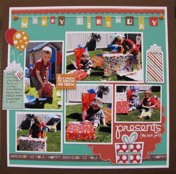 Boys Birthday. | scrapbook pages-birthday/celebrate | Pinterest | Boy ...
