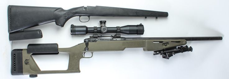 """Savage Model 10 in 223 Bolt Action Rifle (CLL), matte blued finish, synthetic stock, 22"""" barrel, 44"""" overall length, 4-round internal box magazine and scope. This rifle features two stocks: -- Choate """"Ultimate Sniper"""" synthetic material with Dragunov-like skeleton butt, pistol grip, wide forearm, adjustable cheekpad and buttplate in olive drab as designed by Major John Plaster -- traditional shaped polymer stock in black The left side of the receiver is marked F811931. The..."""