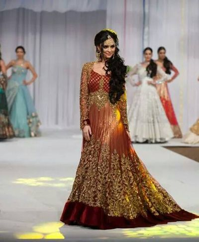Latest Bridal Wear Dresses Collection 2014 For Girls by Maria (4)