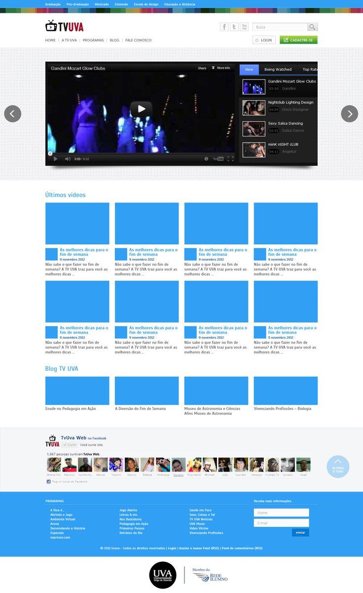 Redesign do site tv uva.
