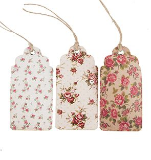 https://www.sassandbelle.co.uk/Set of 15 Vintage Rose Tag Assorted