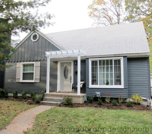 Front Door Roof: Bungalow, Pergola Above Front Door, Slate, Blue, Charcoal