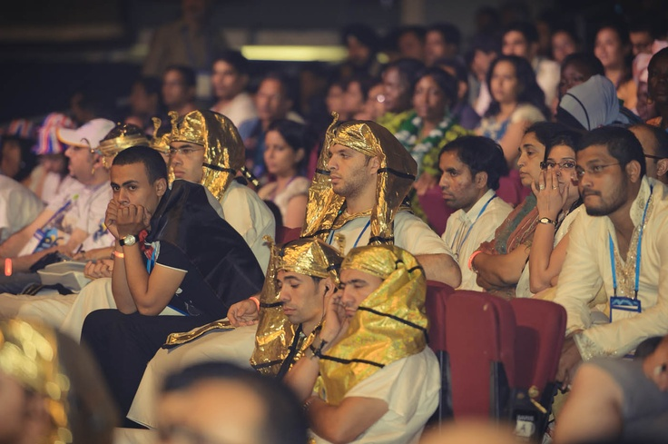 Its not every day you see pharaohs in the audience! #VConf