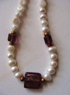 foto hand made jewels  Φωτεινή Μάμαλη: Κολιέ με μαργαριτάρια