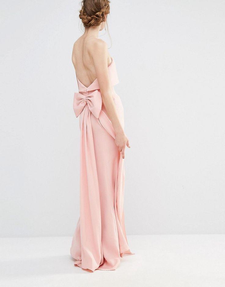 Imagen 4 de Vestido largo de boda con capa superpuesta y diseño con cola de pez y lazo extragrande en la parte posterior de Jarlo