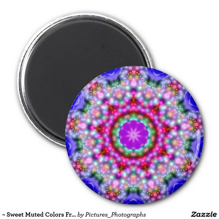 ~ Sweet Muted Colors Fractal Pattern ~ Magnet