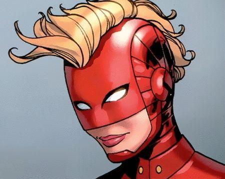 "Captain Marvel helmet - ""The helmet's gone as well."" http://www.comicbookresources.com/article/lbcc-captain-marvel-flies-high-with-butters-fazekas-anka"