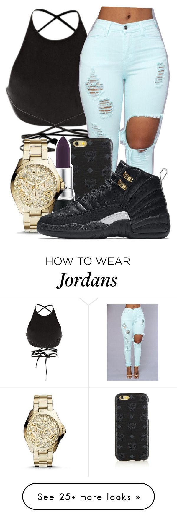 """""""Untitled #447"""" by teennoutfits on Polyvore featuring Calvin Klein Collection, MCM, FOSSIL and NIKE"""