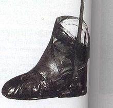 Chaussure orthopédique de Talleyrand, conservée au château de Valençay