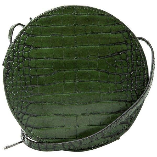 Mango Croc-Effect Shoulder Bag, Green (43 AUD) ❤ liked on Polyvore featuring bags, handbags, shoulder bags, faux-leather handbags, zip shoulder bag, green shoulder bag, shoulder handbags and croc shoulder bag