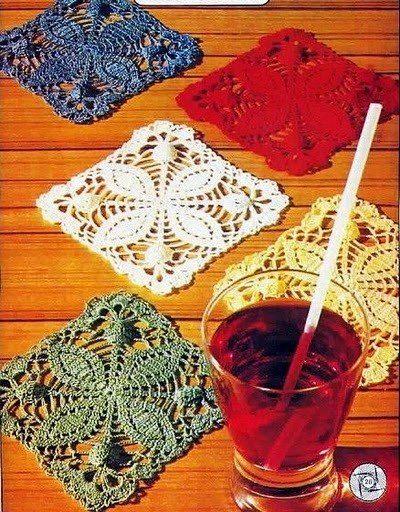 Delicadezas en crochet Gabriela: Maravillosos modelos de posavasos para vestir tu mesa en cualquier ocasión