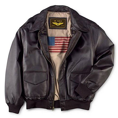 Landing Leathers Men's Air Force A-2 Leather Flight Bomber Jacket - Brown XLT