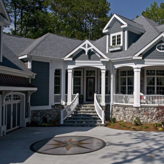 Sw 2848 roycroft pewter gray exterior house photos grey and stone exterior for the home - Exterior grey paint colors decor ...