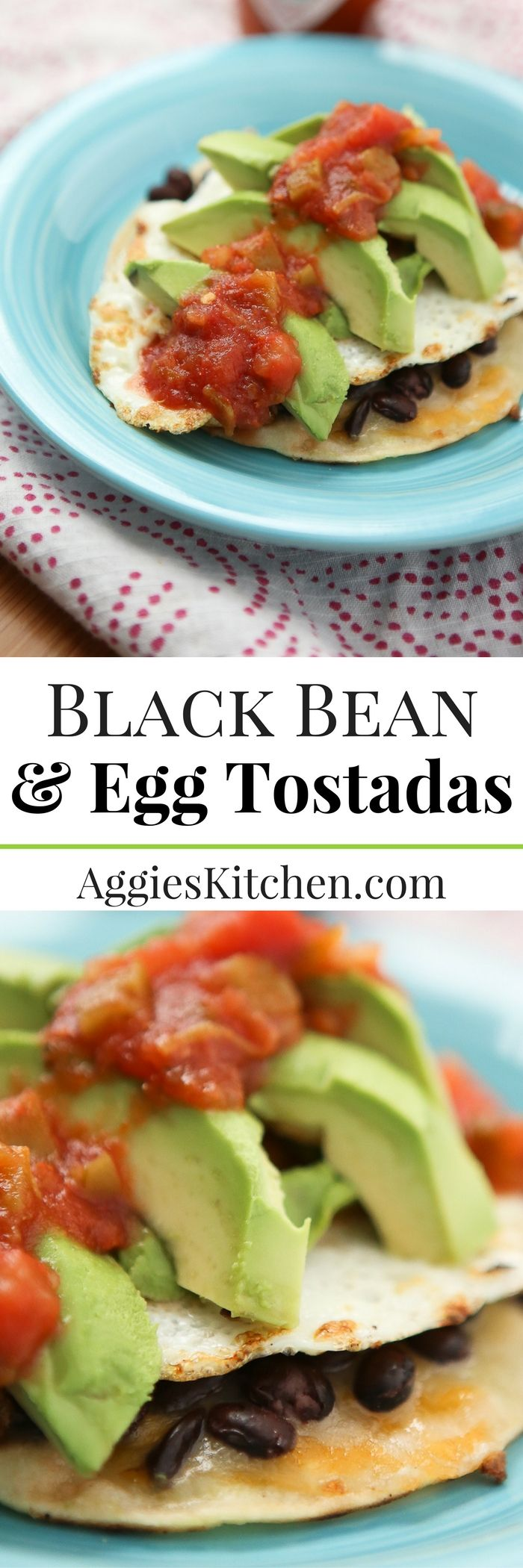 Change up your egg and toast breakfast (or dinner) routine with these simple & healthy Black Bean and Egg Tostadas. Just a few staple ingredients!