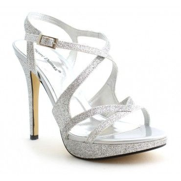 Pierre Dumas Women's Belinda 27 Glitter Silver #wesleyancollegega