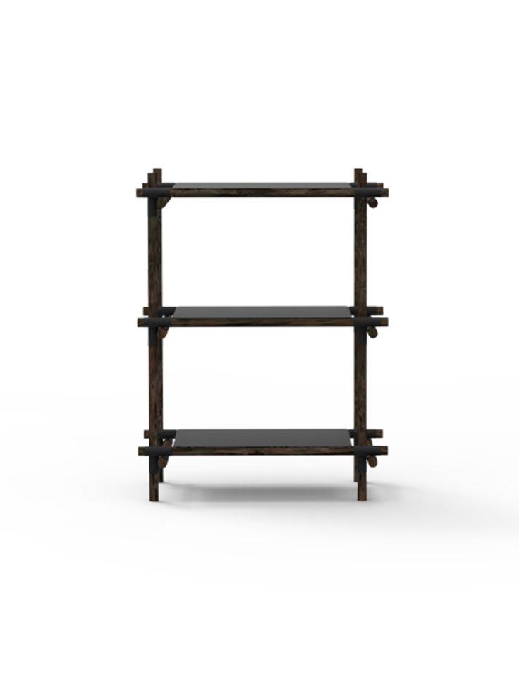 Stick System1x3, Black/Dark Ash Design by Jan Plecháč & Henry Wielgus