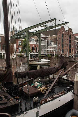 Old bridge harbor Delfshaven Rotterdam #architecture #architectuur #wall #Delfshaven #building #010 #Rotterdam #Holland #Nederland #Netherlands #nature #ZuidHolland #SouthHolland #window