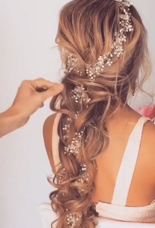 #Wedding hair, #Hairstyle - #hairstyle #wedding - #HairstyleBridesmaid