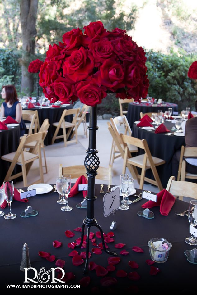 Wedding Flowers | Red Roses | Charmaine's Florist | Red & Black Wedding |