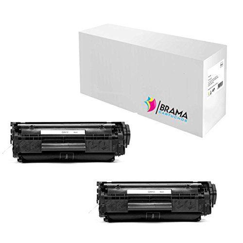 Bramacartuchos - 2 X Tóner compatible Hp Q2612A. (2000 copias) HP Laserjet 1010, 1012, 1015, 1018, 1020, 1022, 1022n, 3015, 3020, 3030, 3036, 3050, 3052, 3055, M1005 MFP, M1319. #Bramacartuchos #Tóner #compatible #copias) #Laserjet #MFP,