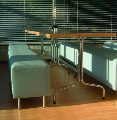 BBC canteen - bespoke table design (attic 2)