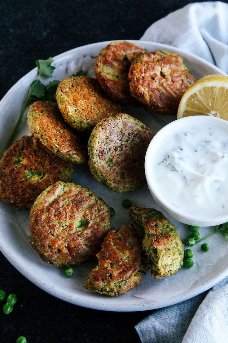 Baked Green Pea Fritters (Vegan + GF) - Wallflower Kitchen