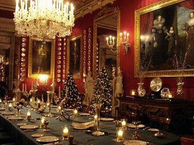 Victorian Dining Room   Dining Room... and Damask Wallpaper