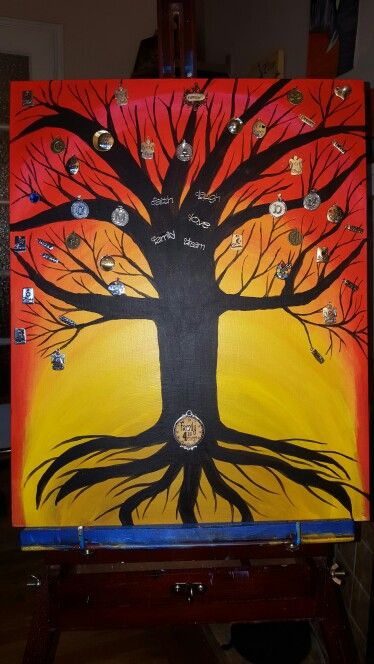 My tree of life with charms acrylic