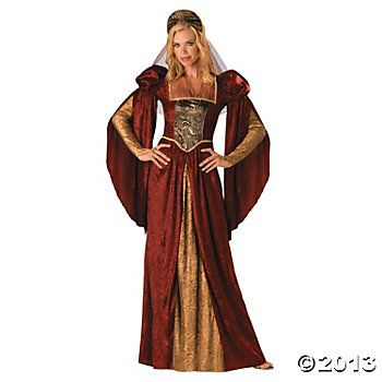 Renaissance Maiden Adult Women's Costume - I tried this on at Halloween Express. Loved it but decided it would be too warm at the festival to wear it. It's cheaper from Oriental Trading Company!