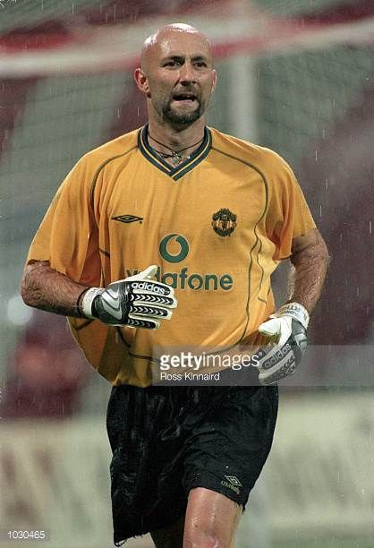 Fabien Barthez of Manchester United in action during the Bayern Munich Centenary preseason friendly tournament match against Bayern Munich at the...