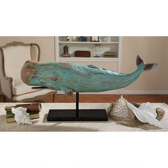 Ahoy, shipmate! This cleverly executed work of Americana folk art makes a handsome maritime naval display and gives your décor an instantly nautical theme. Cast in quality designer resin with a distre