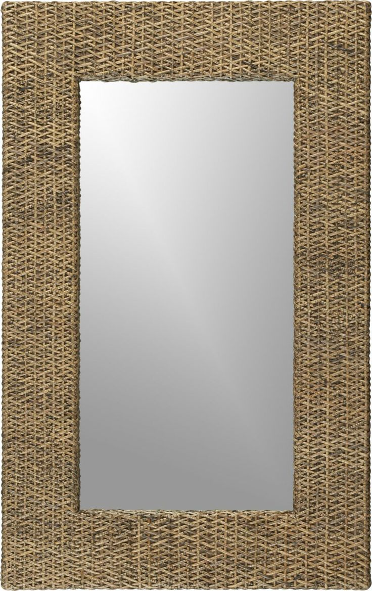 Woven Rattan Wall Mirror  | Crate and Barrel