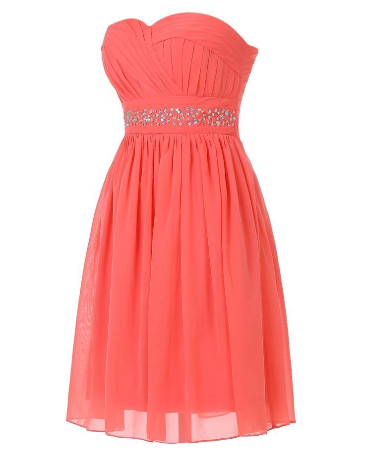 Short coral bridesmaid dresses plus size bridesmaids for Plus size coral dress for wedding