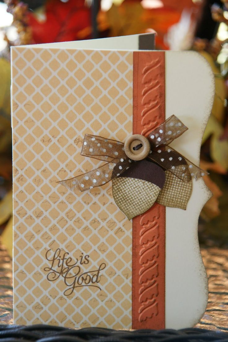 Wow I really like the look of this card! It's pretty simple and straight forward, but the embossed stripe adds so much both in color and in the embossing.