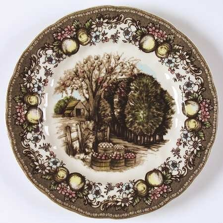 "Johnson Brothers Friendly Village,The (""England 1883"") Plate-Luncheon,Fine China Dinnerware: Amazon.com: Home & Kitchen"
