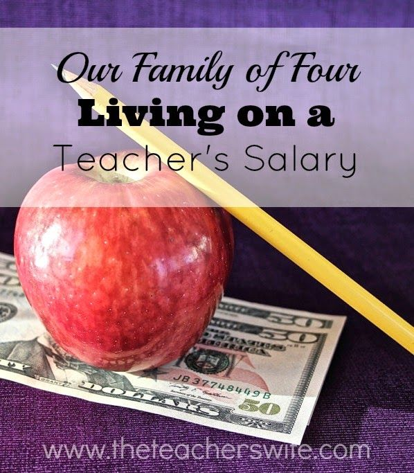OUR FAMILY OF FOUR LIVING ON A TEACHER'S SALARY.  There is no denying that living on one income is not easy, but it's certainly not easy when that one income happens to be a teacher's salary.  I know it's not possible for everyone, but this post reviews some of the main ways we are able to make it work.  We are so thankful to have this option and to have been able to make it work so far!
