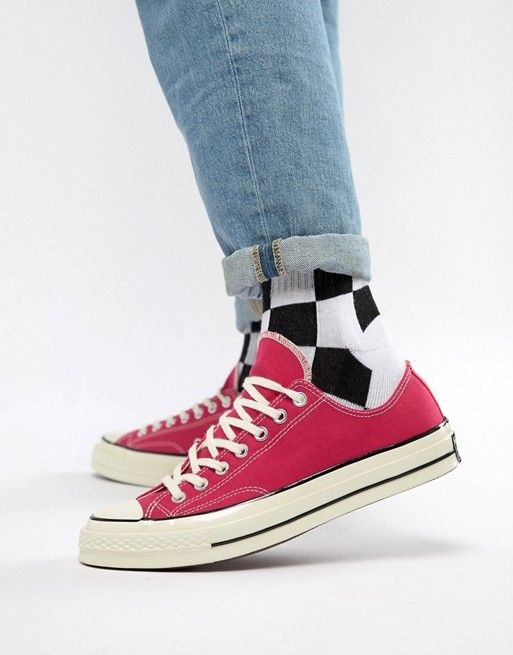 Men Converse Pink canvas Chuck Taylor All Star trainers